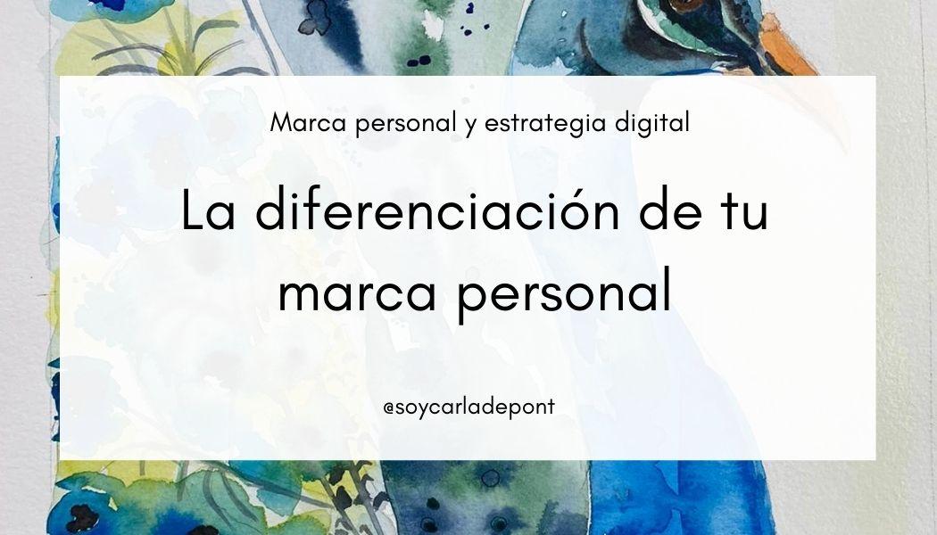 La diferenciación de tu marca personal