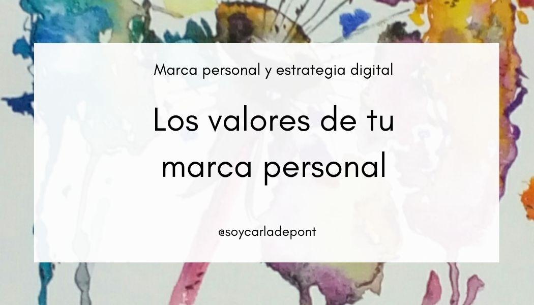 Los valores de tu marca personal