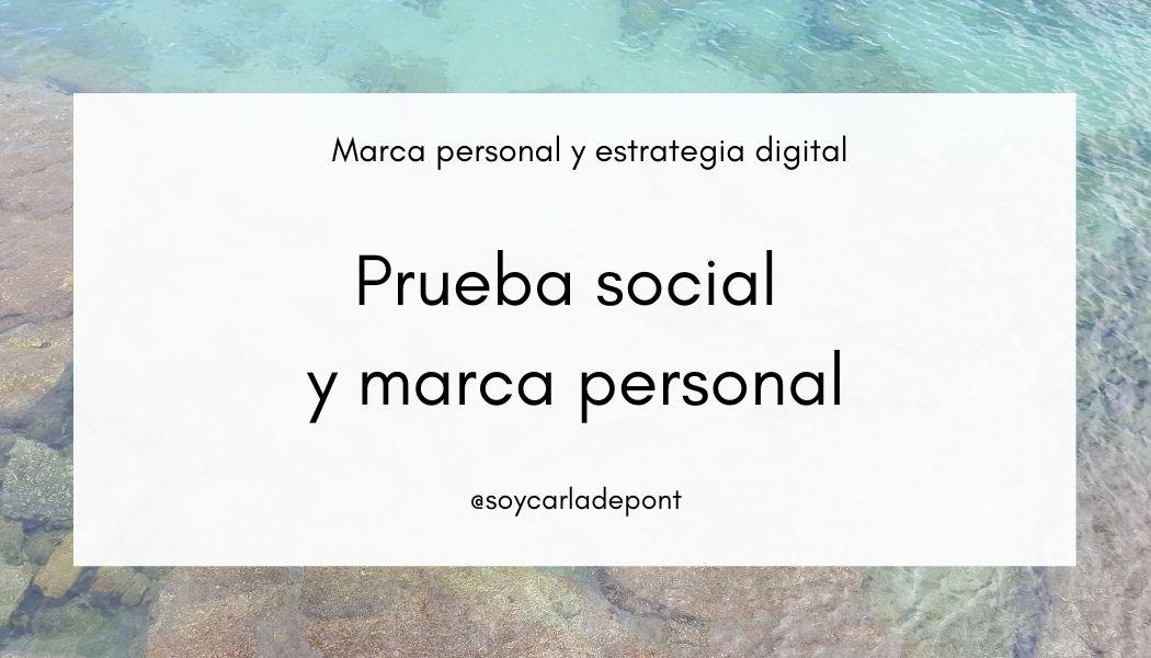 Prueba social y marca personal